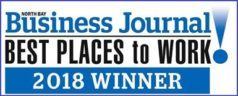 Voted Best Places to Work by North Bay Business Journal 2018